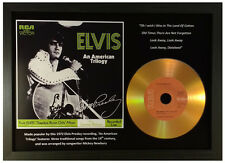 ELVIS PRESLEY 'AN AMERICAN TRILOGY' SIGNED GOLD PRESENTATION DISC