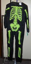 NWT GREEN BONES SKELTON JUMPSUIT COSTUME SIZE LARGE 12-14 SURPLUS