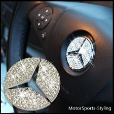 Crystal Stone Steering Wheel Insert Badge Emblem Sticker Bling For Mercedes Benz