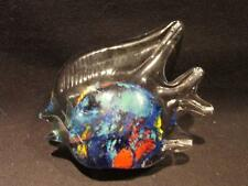 Murano Italian Art Glass Muliti-Colored Inside Angel Fish Paperweight