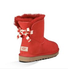NEW Women's Size 8 Ugg Bailey Bow Boots. Rose Red. New, No Box