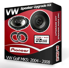 VW Golf Mk5 Front Door Speakers Pioneer car speakers + adapter rings pods 240W