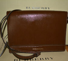 NWT BURBERRY $995 MENS PATENT LEATHER CROSSBODY MESSENGER PURSE BAG ITALY