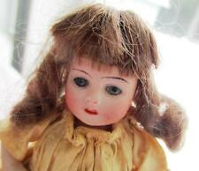 "GERMAN ANTIQUE DOLLHOUSE ALL BISQUE 4 1/2"" DOLL WITH SLEEP EYES AND TEETH"