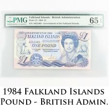 1984 Falkland Islands One Pound Gem UNC-65 EPQ £1 British Administration Pick-13