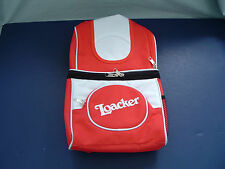 Loacker wafer cookie red  and white promotional backpack