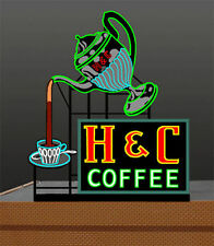 H&C Coffee Animated Billboard Sign for HO O S Scale Miller 7881