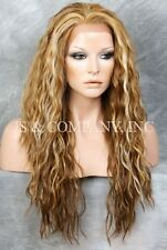HEAT SAFE Lace Front wig Wavy Blonde mix Curly NUO 2216