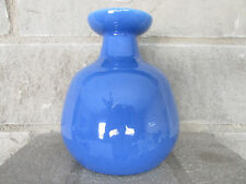 "Blue Pottery Flower Vase Chubby 6""  Catalina Island?"