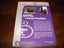 EIFFEL - FLYER CONCERT CHELLES NOVEMBRE !!!!!!!!!!!!