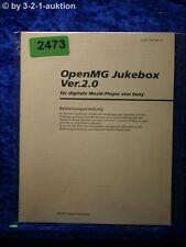 Sony Bedienungsanleitung Open MG Jukebox Ver. 2.0 (#2473)