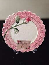 "NIB OMNIBUS BY Fitz & Floyd Victorian Postcards Canape Ceramic Plate 8.5"" Rose"