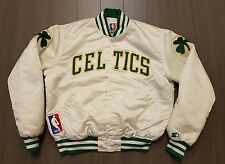 Vintage Starter Boston Celtics sewn NBA satin nylon white jacket L