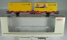 Märklin H0 47708 PMS 60-04 Containerwagen 2-achsig der DB 2~ KKK & NEM OVP #4705