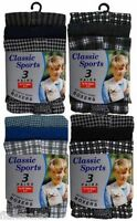 3 Pack Boys kids Classic Check Cotton Jersey Boxer Shorts Ages 2 -13 Years.