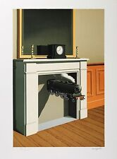 René Magritte - Time Transfixed (color lithograph, plate-signed & numbered)