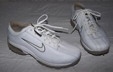Women's size 7 6230 NIKE Air White Leather Golf Shoes Soft Spikes
