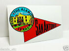 San Antonio Texas Alamo Vintage Style Travel Decal / Vinyl Sticker,Luggage Label