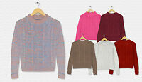 Ladies Womens New Cable Chunky Knitted Sleeve Long Pull Over Jumper Top Knit