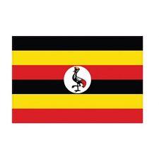 Autocollant Drapeau Uganda Ouganda sticker flag 4 cm