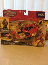 Brand new power rangers super megaforce zeo racer zord et red ranger