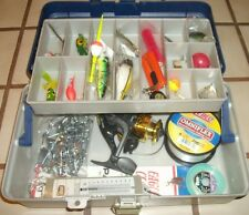 Fishing Box Full  of tackle w/ New Spinning Reel, ready to go fishing