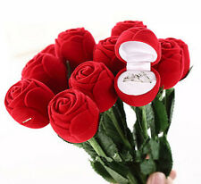 NS Romantic Rose Engagement Wedding Earring Ring Pendant Display Gift Box