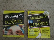 2 books - WEDDING KIT FOR DUMMIES - USED BOOK - INCLUDES CD SOFTWARE & Weddings