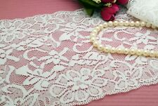 "2 Yards 6"" Lovely Off White Stretch Elastic Sewing Lace Trim"