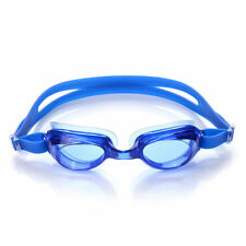 Blue Adjustable Adult Swimming Goggles UV Protection Low Profile Anti-fog