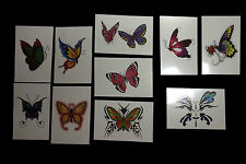 10 Books of Large Glitter Butterfly Temporary Non Toxic Tattoos