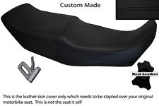 BLACK STITCH CUSTOM FITS BMW K75 K100 K1100 DUAL REAL LEATHER SEAT COVER