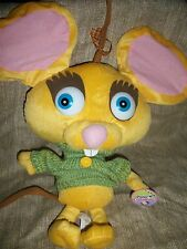 """Toy Network Here Comes Peter Cottontail the Movie Munch Yellow mouse 12"""" Plush"""