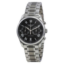 Longines Master Collection Black Chronograph Dial Stainless Steel Mens Watch
