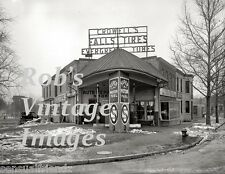 Vintage Old Crowell Gas Pump Service Station 1920s photo print