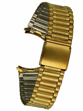 Osco edelstahluhrarmband Gold - 17 mm de ancho de alma clip cierre uhrband