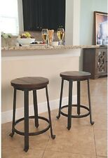 Ashley Rustic Design Brown Barstool Counter High-Challiman Stool 4pc Furniture