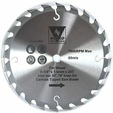 "NEIKO 10772A - 8-1/4"" x 24T Carbide Tipped Woodworking Saw Blade"