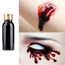 Halloween Xmas Gel Fake Thick Blood Bottle Dark Red Face Body Make Up Paint 30ml