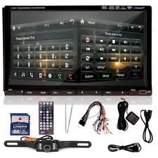 "Sony Lens +Rear Cam+7"" HD Car Stereo DVD CD Player Radio Bluetooth iPod TV"