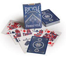 1 Deck Bicycle BLUE Robocycle Playing Cards new metallic looking robot