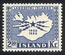 Iceland 1956 Telegraph/Communications/Telecomms/Map/Animation 1v (n34501)