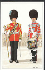 Military Postcard - Irish Guards - Drum Major and Side Drummer   DR618