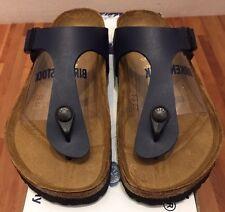 Birkenstock Gizeh 143621 size 36 L5-5.5 R Blue Birko-Flor Thong Sandals