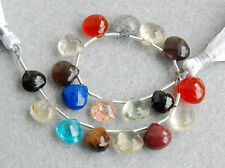 58ctw Apatite Carnelian Tiger's Eye Scapolite Sunstone Rutilated Quartz Beads