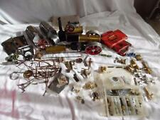 Collection of used Mamod spares including new brass unions fittings etc