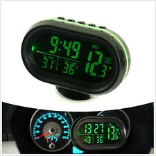 4In1 Green LED Backlight Digital Display Thermometer Clock Car voltage Car A/C