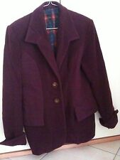 Giacca in panno bordeaux - Jacket - Jaquette