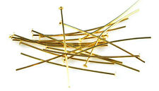 100 Very Thin Gold Plated Head Pins 24 Gauge 2 Inch