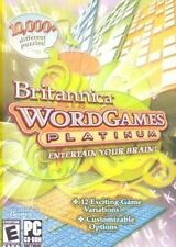 Britannica Word Games Platinum   over 10,000 puzzles  Brand New in Box
